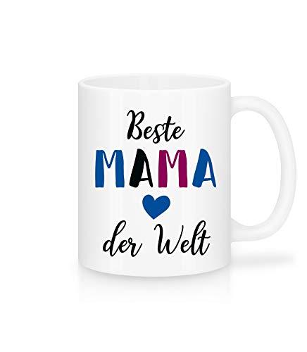 Shirtinator Geschenk-Tasse mit Spruch für Mama I Beste Mama der Welt I schöne Geschenkidee-n zum Muttertag Geburtstag