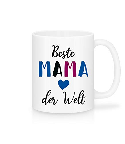 Shirtinator Geschenk-Tasse mit Spruch für Mama I Beste Mama der Welt I schöne Geschenkidee-n e Geburtstag Weihnachten