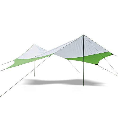 Chengzuoqing Velas De Sombra Carpa Hexagonal Toldo para Sombrilla UV 40+ Toldo Impermeable para Playa para Balcón Y Terraza De Jardín