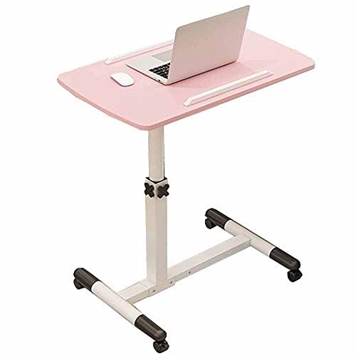 LJFYXZ Mesa de Ordenador Escritorio Ajustable con Soporte para computadora portátil Escritorio de computadora Plegable 360 ° Giratorio Bandeja de sofá portátil para el Trabajo de Estudio Rosa