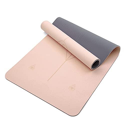 Esterilla Yoga, Yoga Mat diseñado para Entrenamiento físico, No tóxico, Antideslizante, para Pilates,Fitness, 6/8 mm/A / 6mm