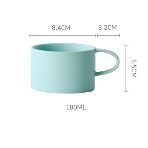 chenaa Macaron Couleurs Solides Mat Tasse De Style Nordique Tasses À Café 180ml 4