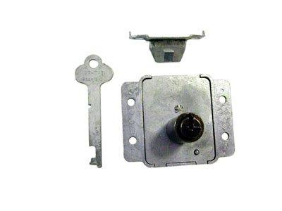 Steel Cedar Chest Flush Mount LID Lock with Barrel Trunk Steamer Key Antique Vintage New