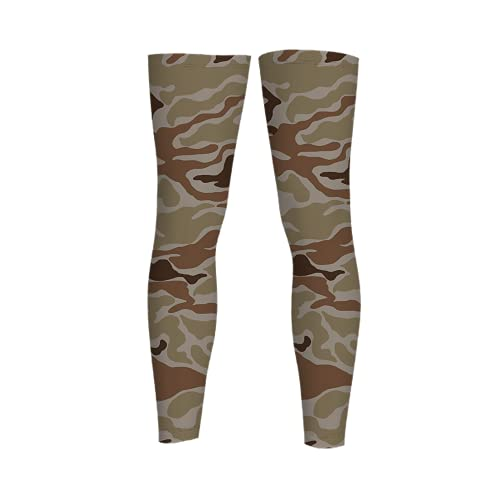 Camouflage Full Length Sleeves Compression Sleeve Socks Knee Braces for Basketball Cycling