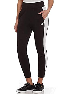 PUMA Women's Archive Logo T7 Athletic Active Sweat Pant (Black, XL)