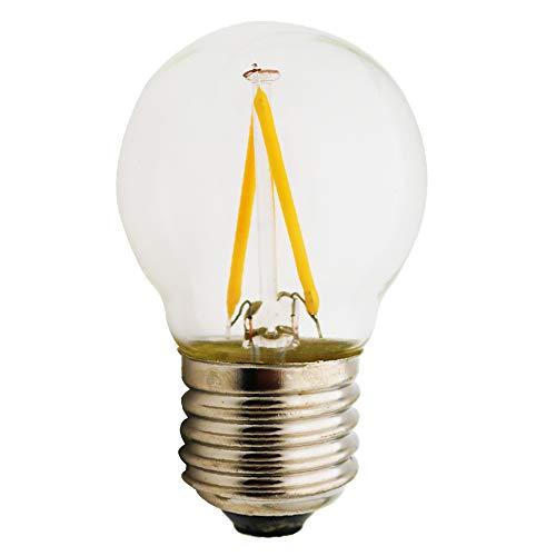 E27 LED Neue Produkte G45,2 W Lampe, vergleiche 15 W Glühlampe,180 Lumen,AC 220 V, warmweiß E27,Glühbirne Kristallklares Glas,1 Stück