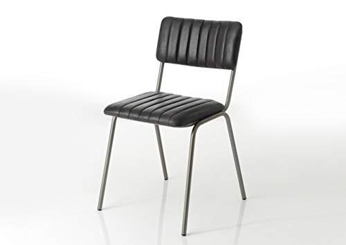 Amadeus - Chaise en Cuir Noir (Lot de 2)