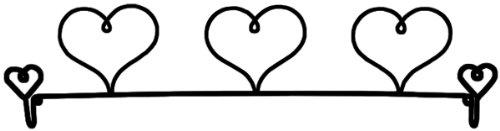 Ackfeld 22-Inch Dowel Fabric Holder, 3 Hearts