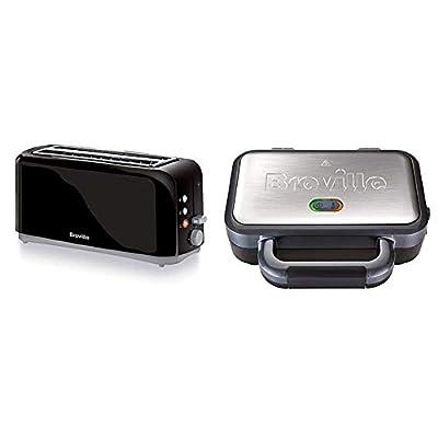 Breville 4-Slice Toaster, 2 Long Slots, High-Lift and Variable Width, Black [VTT233]
