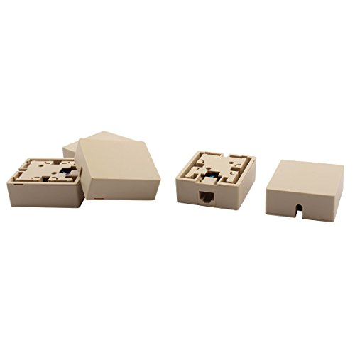DyniLao RJ45 8P8C Cat5 Cable de red Ethernet Caja de conectores de montaje en superficie de pared 5 piezas