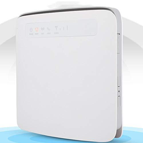 Router Wi-Fi 4G LTE 300 Mbps, Supporto 64-Router Wireless CPE per SIM Card 64 Utenti con Doppia Frequenza 2.4 Ghz 5 Ghz per 4G a Wifi, Rete Cablata a Wifi, Connessione Stabile per Casa/Viaggio(UE)