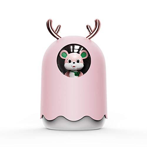 Nrew 300ml USB Humidificador de Aire ultrasónico Aroma Difusor de Aceite Esencial Aromaterapia Rosa