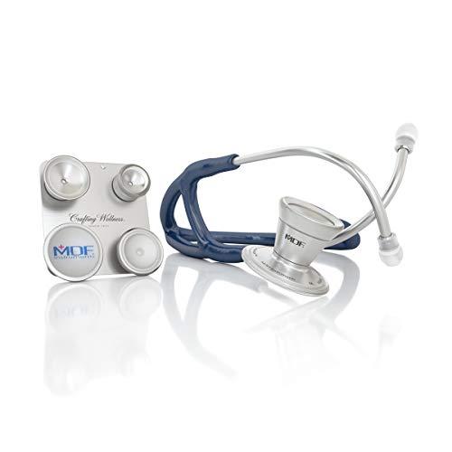 MDF® ProCardial® C3, Kardiologie Zweikopf-Stethoskop aus rostfreiem Stahl mit umbaubarem Bruststück für Erwachsene, Kinder, Säuglinge und Neugeborene - Marineblau (MDF797CC-04)
