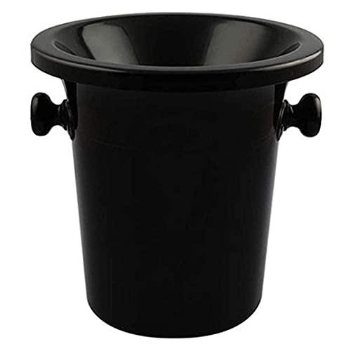 AWJ Escupidera de plástico Multiusos para cata de vinos Cubo de Hielo Aislado con Tapa Cubo de champán Cubo de Hielo Portátil a Prueba de Fugas Negro 3.75 l