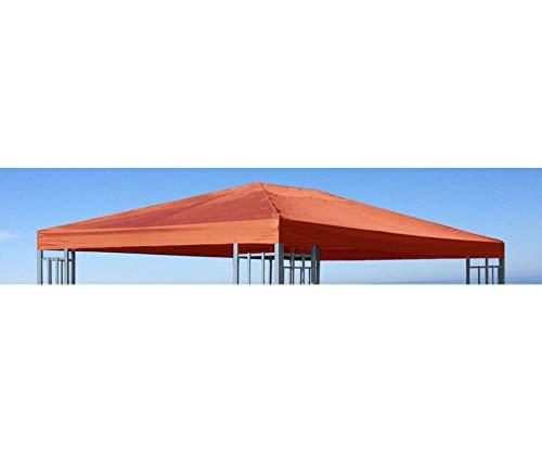 GRASEKAMP Qualität seit 1972 Ersatzdach zu Aluoptik Pavillon 3x4m Terrakotta Rankpavillon universell