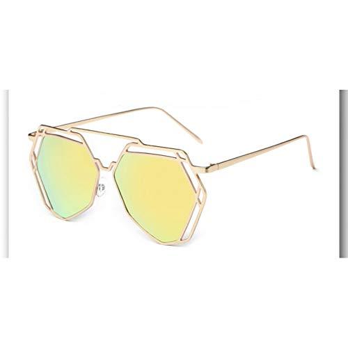 KCJKXC grote spiegel zonnebril vrouwen Hexagon liefhebbers Hippie Uv400 Pilot uithullen zonnebril goede kwaliteit