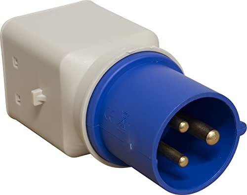 Brennenstuhl 1081560 Adattatore CEE 3 poli 16 A/230 V, spina CEE, presa italiana 10A+16A (IP 44)