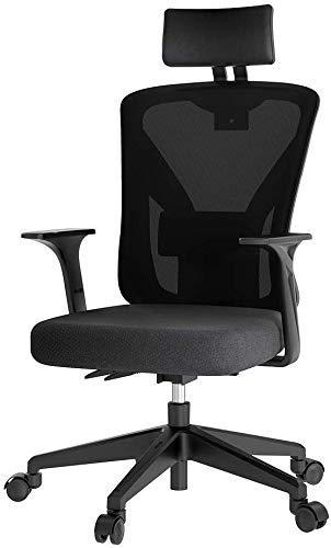 N/Z Life Equipment Swivel Chair Home ergonomics Esports Esports Adjustable Computer Lift Swivel Chair 360 Degree Rotating Chair (Color : Black)