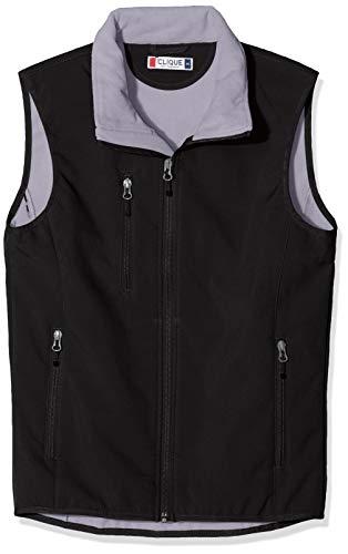 CLIQUE Herren Softshell Vest Gilet Outdoor Weste, Schwarz, XXXXX-Large