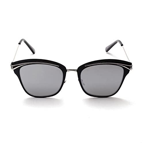 JINZUN Gafas de Sol de Montura Grande, Gafas de Sapo de Metal, Gafas de Sol de Moda, protección UV para Exteriores, Unisex