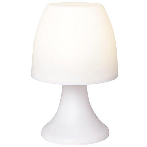 LED-Lampe mit Timerfunktion, weiß, 19 cm hoch, batteriebetrieben | Nachttischlampe, Lampe für das Kinderzimmer | Campinglampe