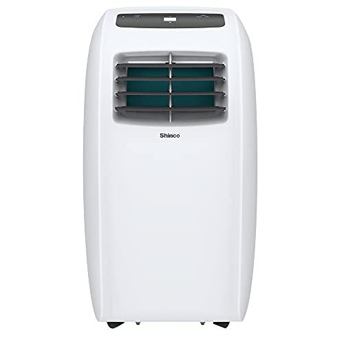 SHINCO 7000BTU Aire Acondicionado Portátil, 2,1kW, Función 3 en 1 con Tubo de Escape, Refrigeración, Deshumidificación y Ventilación, Eco R290