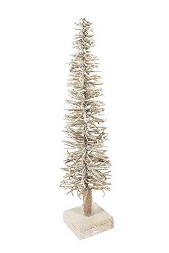 Villa d'Este Home Tivoli Glam Christmas Albero 50 cm con 20 LED, Oro, Misure p. 10 x h