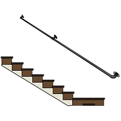 XCTLZG - Kit completo di strumenti per ringhiere per scale in ferro, per interni e soppalco, antiscivolo, asta di supporto per corrimano, lunghezza 30 ~ 600 cm (dimensioni: 550 cm)