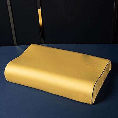 Funda de Almohada de algodón Egipcio Funda de Almohada de Color sólido Funda de Almohada Bordada Funda de Almohada de látex Funda de Almohada 40X60-jin qiu Huang, 30x50cm 1pc