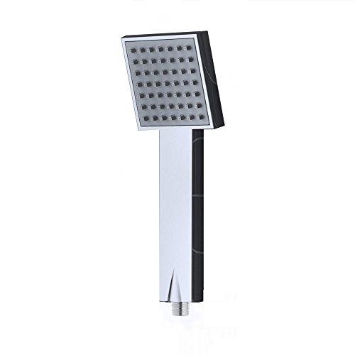 doporro ducha de mano diseño SB03, elegante cromado, revestimiento de goma anti-cal, conexión de 1/2', rociador de ducha,