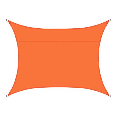 YUDEYU Rectángulo Vela de Sombra Toldos Vela Solar Canopy Tela de Oxford jardín Piscina Exterior Patio Impermeable Proteccion Solar Anti-UV Red de sombreado (Color : Orange, Size : 3 x 4m)