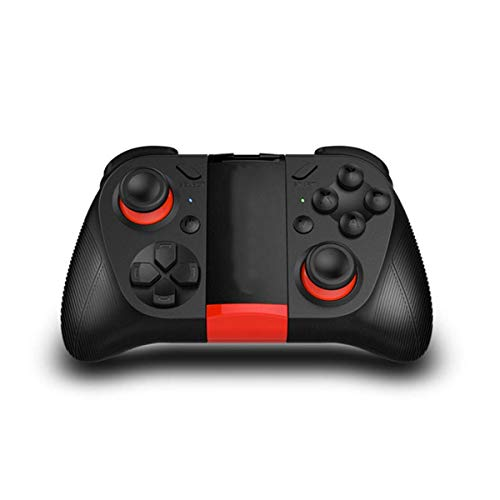 QCHEA Gamepad Controller, Receptor inalámbrico Bluetooth Controlador de Juegos móvil Gamepad Joystick con Soporte telescópico for Android iOS PC Smart TV/TV Box
