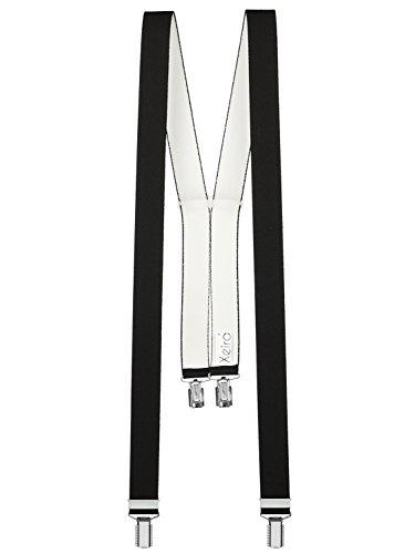 Xeira - Bretelles de haute qualité pour Femmes/Hommes avec 4 clip extra fort 3,5cm large en 10 couleur design differentes - Fabriqué en Allemagne (Noi