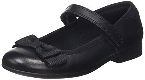 Clarks Mädchen Scala Tap K Uniform-Schuh, Black, 29 EU
