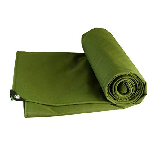 Toldo Lona Alquitranada Espesar Paño de Lluvia Impermeable Proteccion Solar Al Aire Libre Lona Camión Terraza Impermeable, 0,7 mm Espesor GHHQQZ (Color : Green, Size : 4x3m)