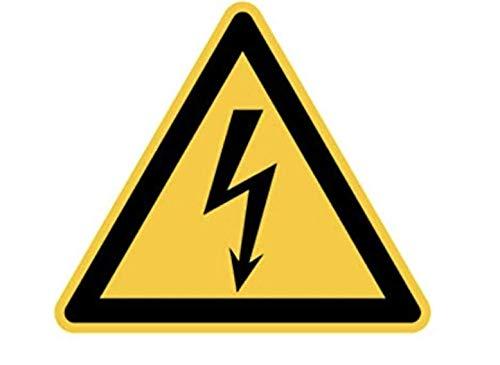 Aufkleber Achtung Hochspannung Warnschild Schild 100x100mm elektrische Spannung made by MBS-SIGNS in Germany