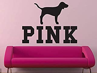 EvelynDavid Pink Victorias Secret Pink with Dog Wall Decal