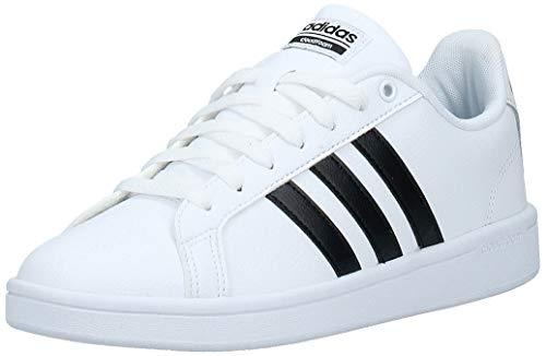 adidas Women's Shoes | Cloudfoam Advantage Cl Sneakers, White/Black/White, (7 M US)