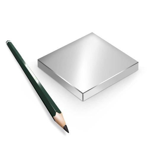 Neodym Magnet Magnete Quader groß ab 30mm von 18KG bis ca. 1000KG Zugkraft N45 N52 vernickelt NdFeB, Quader:70x70x10mm N45 300KG (1St.)