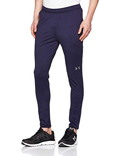 Under Armour UA Challenger II Pantalones para Hombre, Ajustado pantalón de chándal, Pantalones Largos ultraligeros y de Secado rápido, Midnight Navy/Graphite (410), LG