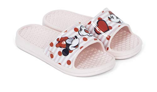 Flip-Flop Minnie Maus für Mädchen, Disney Minnie Mouse für Strand und Pool, Pink - Rosa - Größe: 30/31 EU