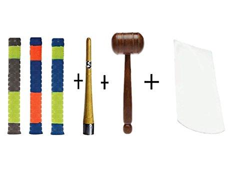 SG Player Grip 3 + Grip Cone +SS wodden mallet + bat face tape