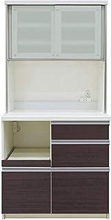 [高さ178cm] Pamouna(パモウナ) QFシリーズ QF-900R 食器棚 [引き戸] (幅90cm, 奥行き50cm, カカオチェリー)
