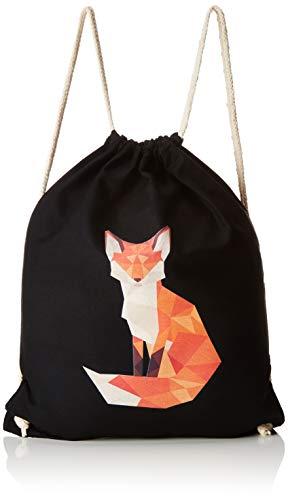 Texlab Polygon Fuchs - Turnbeutel, schwarz