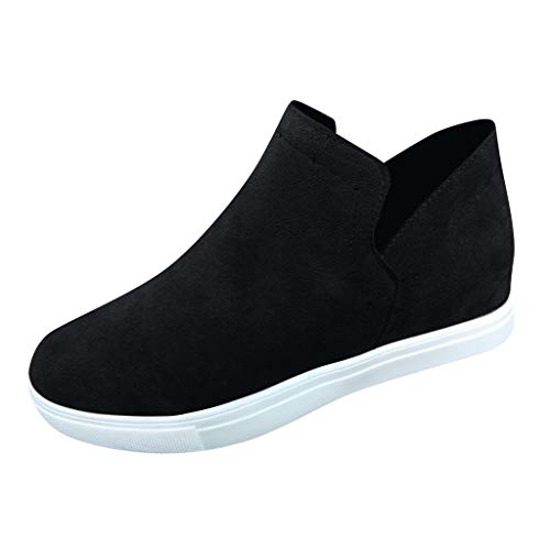 Vovotrade Dames High Top Sneakers Vrije tijd Suede Plateau Sneakers Sportschoenen Ademend Comfortabele Wedge Vrijetijdsschoenen Turnschoenen