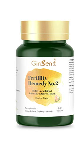 Fertility Remedy No.2 (150 Capsules) Boost Naturally Fertility Effective Remedy Helps PCOS and Promotes Ovulation, Natural Herbal Supplement