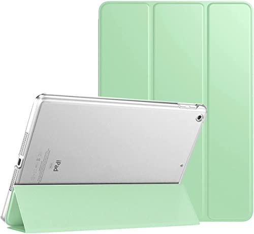 TiMOVO Custodia per Nuovo iPad 9a Gen 2021, iPad 8a Gen 2020/iPad 7a Gen 10.2' 2019, Auto Sveglia/Sonno con Retro Semi-Trasparente Rigido - Verde