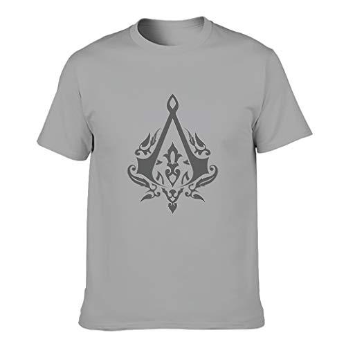 Assassin Tattoo Herren T-Shirt Baumwolle Top, Vintage Out - Spiele Gray 5XL