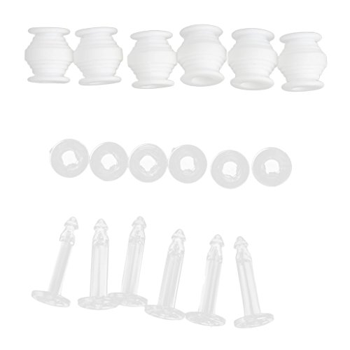 Gazechimp Dämpfung Gummibälle, Anti-Drop-Stifte Set, Gimbal Anti Vibration Plate Ersatzteile für RC DJI Phantom 3 Kamera Gimbal