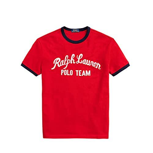 Polo Ralph Lauren Camiseta para Hombre Polo Team 566405 (XL, RL Red)